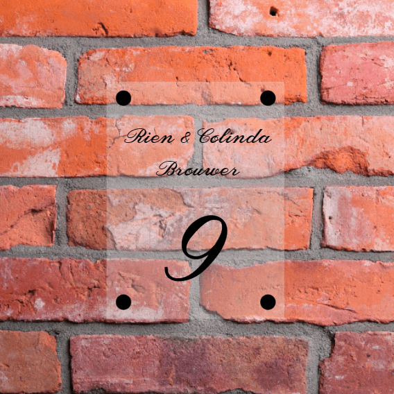 Huisnummer met naam