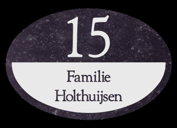 Belgisch hardsteen huisbord